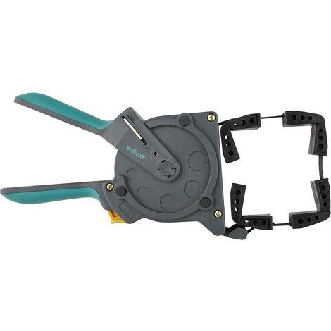 set di 4 pezzi presa rapida e rilascio a cricchetto realizzati in lega di alluminio e plastica morsetti a F per falegnameria 100 mm Morsetti a F per falegnameria