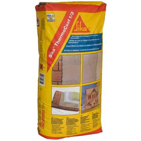Mortero adhesivo SIKA ThermoCoat-1/3 - 25 kg - Gris - Gris