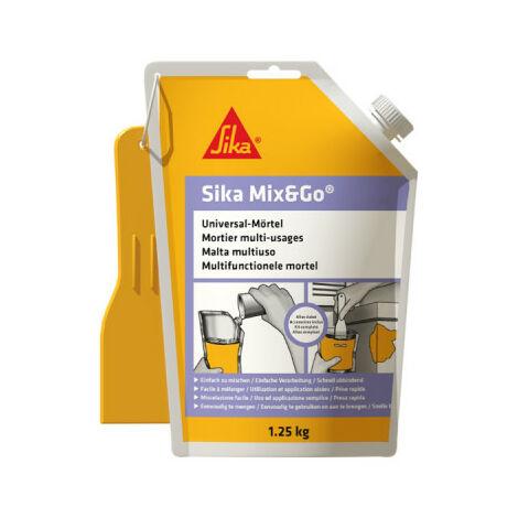 Mortero de reparación listo para mezclar - SIKA Mix & Go - Gris - 1,25kg
