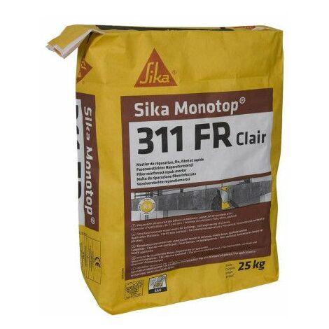 Mortero de reparación SIKA SikaMonoTop-311 ES - 25 kg - Gris