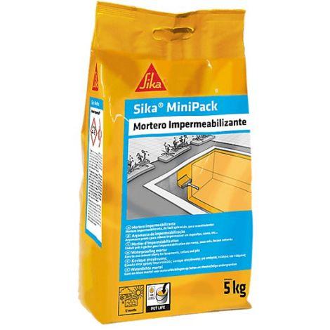 Mortero Impermeabilizante Sika MiniPack 5Kg Gris