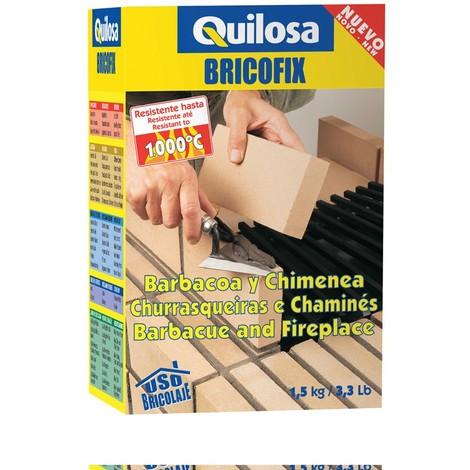 Mortero Refractario Chimeneas - QUILOSA - 31336 - 1,5 KG