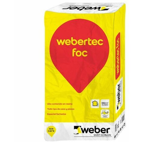 Mortero refractario Weber.Tec Foc 25 kg gris oscuro