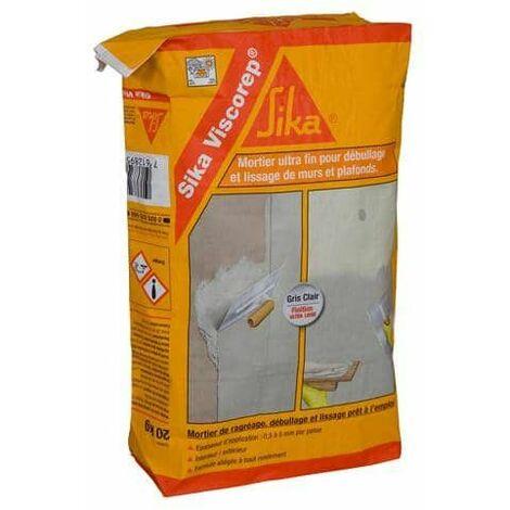 Mortero ultrafino de nivelación, desburbado y alisado - SIKA Viscorep - Gris claro - 20kg