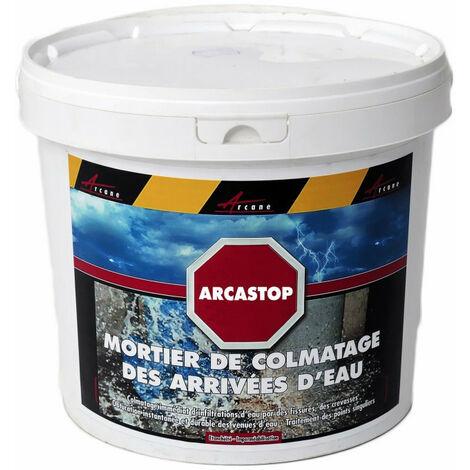 Mortier Anti Infiltrations Eau Enduit Prise Ultra Rapide Arcastop Arcane Industries Gris 5 Kg 81 23502