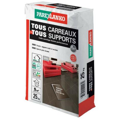 """main image of """"Mortier-colle amélioré PAREXLANKO Tout Carreaux Tout Support - Gris - 25 kg - 02939 - Gris"""""""