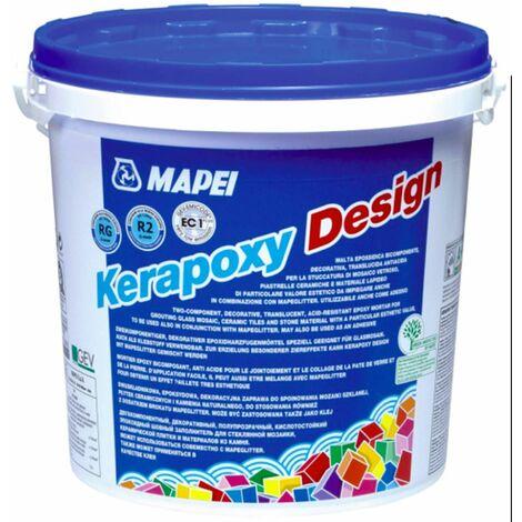 Mortier-colle pour carrelage KIT KERAPOXY DESIGN - Seau de 3Kg - Gris ciment