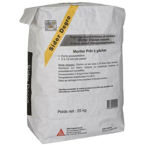 Mortier de ragréage SIKA Sider Degro - Gris - 25 Kg - Gris