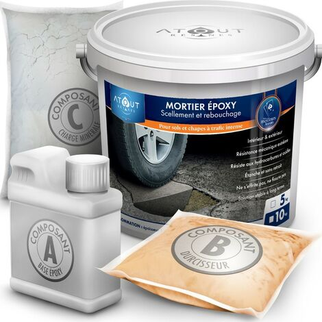 Mortier de rebouchage epoxy pour sols