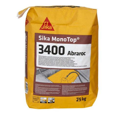 Mortier de réparation SIKA SikaMonoTop-3400 Abraroc - 25 kg - Gris - Gris