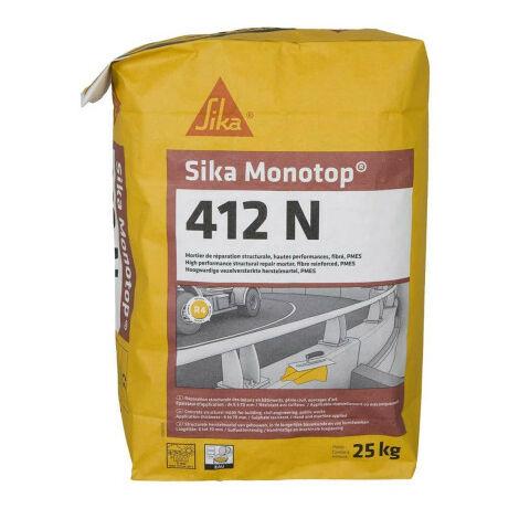 Mortier de réparation SIKA SikaMonoTop-412N - 25 kg - Gris - Gris