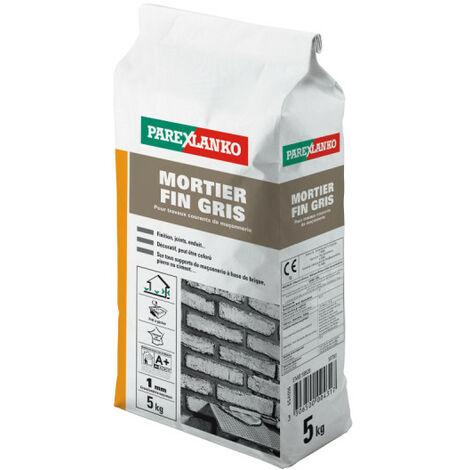 Mortier fin gris pour travaux courants de maçonnerie 5 kg