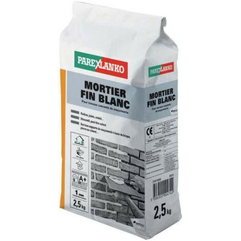 Mortier fin PAREXLANKO - Blanc - 2.5kg - 02872 - Blanc