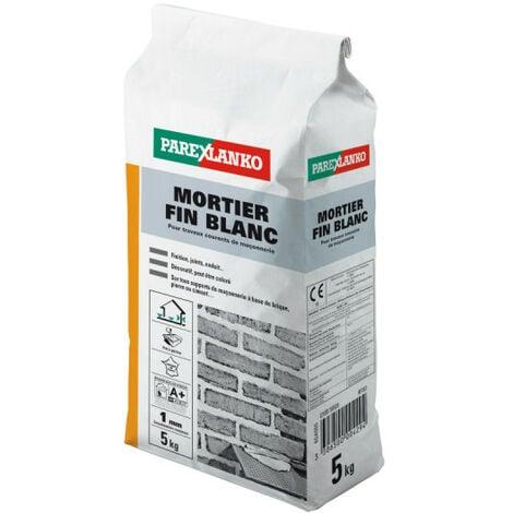 Mortier fin PAREXLANKO - Blanc - 5kg - 02813 - Blanc