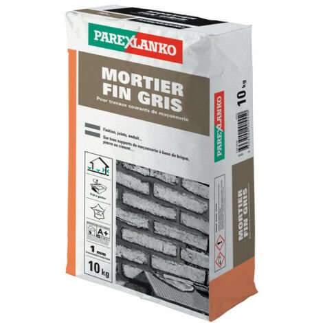 Mortier fin PAREXLANKO - Gris - 10kg - 02959 - Gris