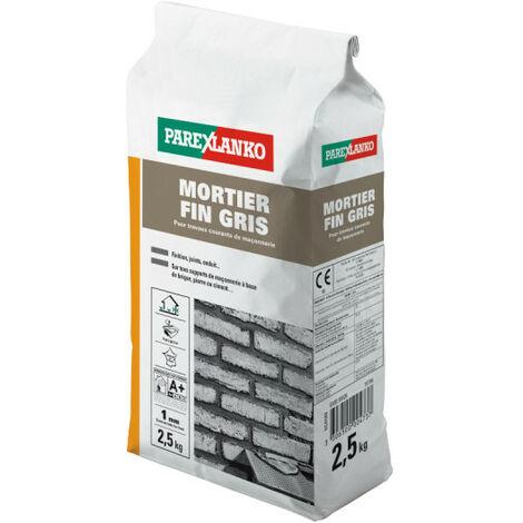 Mortier fin PAREXLANKO - Gris - 2.5kg - 02871 - Gris