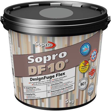 Mortier Joint Sopro DF 10 Gris Déco Flex 5kg - Gris