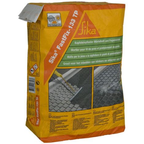 Mortier pour jointement de pavés SIKA FastFix 133 TP - Gris - 25kg - Gris