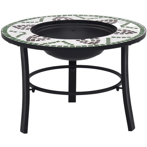 Mosaic Fire Pit Green 68cm Ceramic