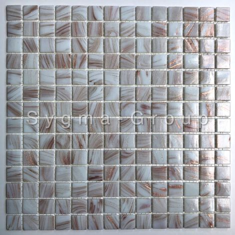mosaic glass tiles for bathroom Speculo Blanc