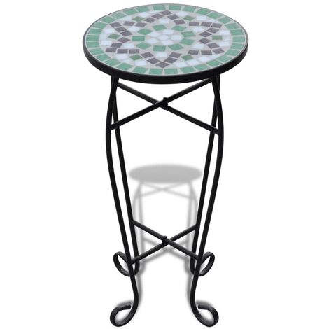 """main image of """"vidaXL Mosaic Side Table Plant Table Outdoor Lawn Garden Plant Stand Gardening Balcony Coffee Table Dining Dinner Desk Multi Colours"""""""