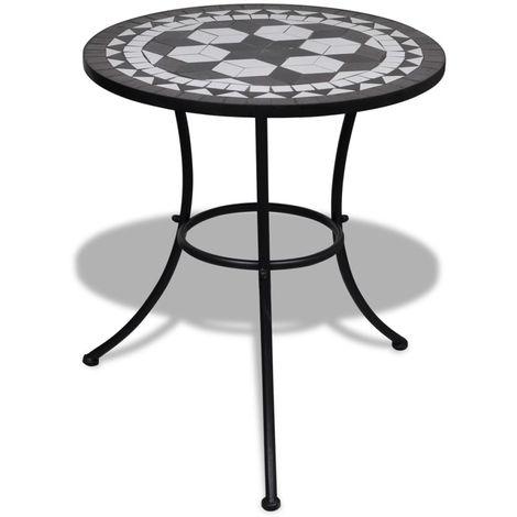 Mosaic Table 60 cm Black / White
