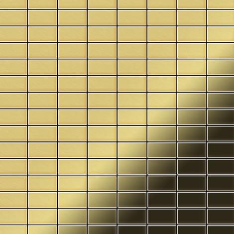 Mosaic tile massiv metal Brass mill gold 1.6mm thick ALLOY Bauhaus-BM