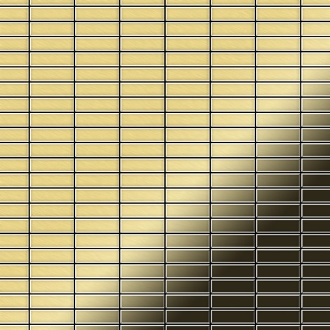 Mosaic tile massiv metal Brass mill gold 1.6mm thick ALLOY Cabin-BM