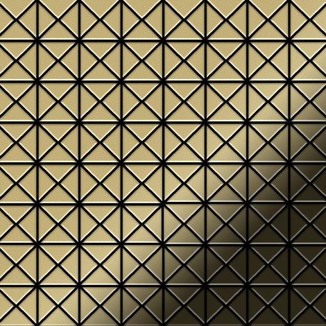 Mosaic tile massiv metal Brass mill gold 1.6mm thick ALLOY Deco-BM