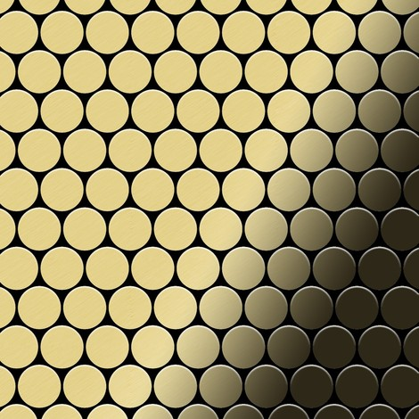 Mosaic tile massiv metal Brass mill gold 1.6mm thick ALLOY Dollar-BM