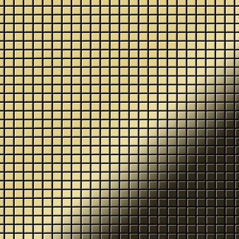 Mosaic tile massiv metal Brass mill gold 1.6mm thick ALLOY Glomesh-BM