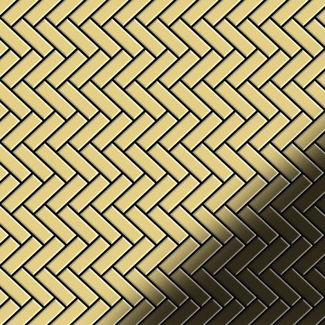 Mosaic tile massiv metal Brass mill gold 1.6mm thick ALLOY Herringbone-BM