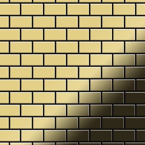 Mosaic tile massiv metal Brass mill gold 1.6mm thick ALLOY House-BM