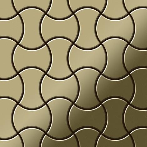 Mosaic tile massiv metal Brass mill gold 1.6mm thick ALLOY Infinit-BM designed by Karim Rashid