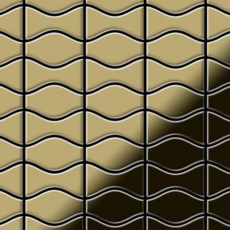 Mosaic tile massiv metal Brass mill gold 1.6mm thick ALLOY Kismet & Karma-BM designed by Karim Rashid