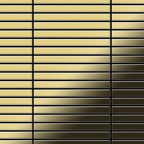 Mosaic tile massiv metal Brass mill gold 1.6mm thick ALLOY Linear-BM