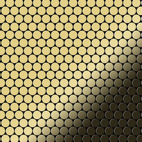 Mosaic tile massiv metal Brass mill gold 1.6mm thick ALLOY Penny-BM