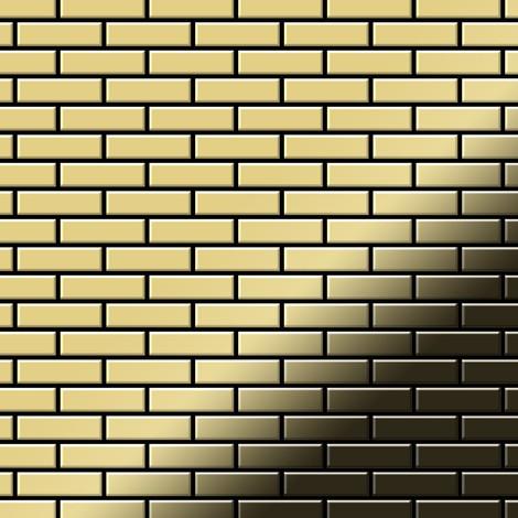 Mosaic tile massiv metal Brass mill gold 1.6mm thick ALLOY PK-BM