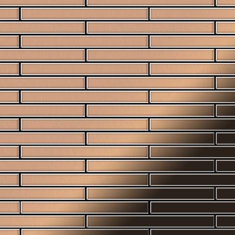 Mosaic tile massiv metal Copper mill copper 1.6mm thick ALLOY Avenue-CM
