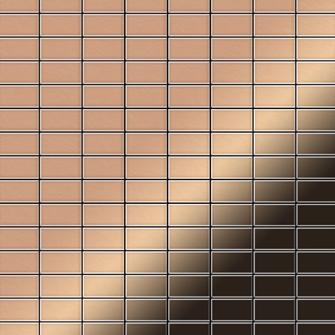 Mosaic tile massiv metal Copper mill copper 1.6mm thick ALLOY Bauhaus-CM