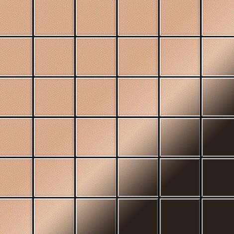 Mosaic tile massiv metal Copper mill copper 1.6mm thick ALLOY Cinquanta-CM
