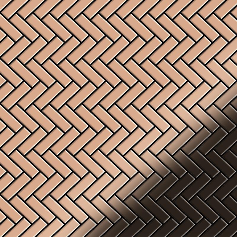 Mosaic Tile Miv Metal Copper Mill