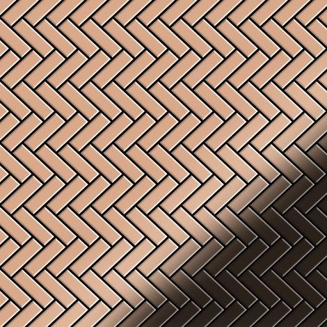 Mosaic tile massiv metal Copper mill copper 1.6mm thick ALLOY Herringbone-CM