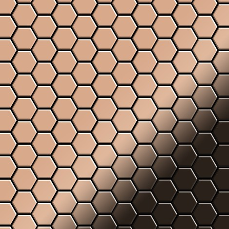 Mosaic tile massiv metal Copper mill copper 1.6mm thick ALLOY Honey-CM