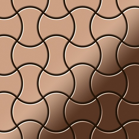 Mosaic tile massiv metal Copper mill copper 1.6mm thick ALLOY Infinit-CM designed by Karim Rashid