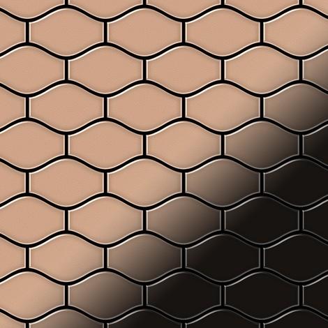 Mosaic tile massiv metal Copper mill copper 1.6mm thick ALLOY Karma-CM designed by Karim Rashid