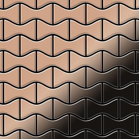 Mosaic tile massiv metal Copper mill copper 1.6mm thick ALLOY Kismet-CM designed by Karim Rashid