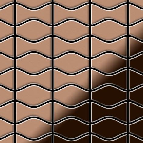 Mosaic tile massiv metal Copper mill copper 1.6mm thick ALLOY Kismet & Karma-CM designed by Karim Rashid