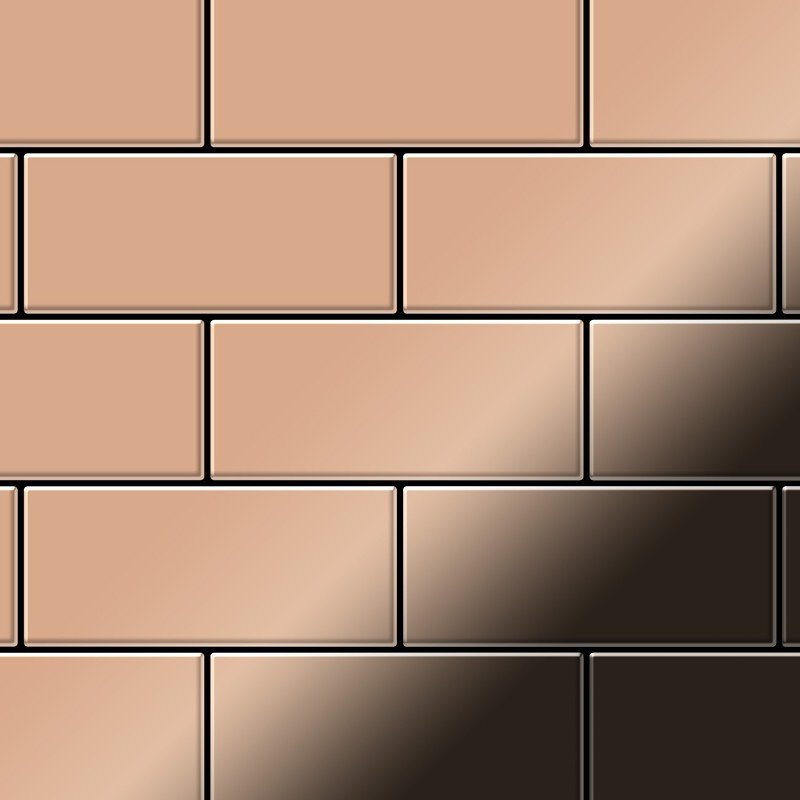 Mosaic Tile Massiv Metal Copper Mill Copper 1 6mm Thick