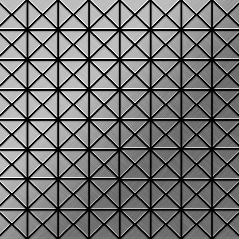 Mosaic tile massiv metal Stainless Steel brushed grey 1.6mm thick ALLOY Deco-S-S-B